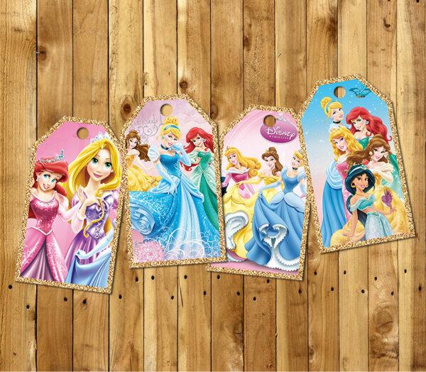 Disney Princess Pack Gift Tags, Disney Princess Pack Thank You Tags, Party Favors, Disney Princess Pack Birthday, Disney Pack Tags,