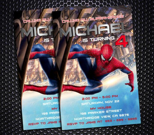 Spider Man Invitation Printable, Spider Man Birthday Party, SpiderMan Invitation, SpiderMan Birthday, SpiderMan Party, Spider Ticket