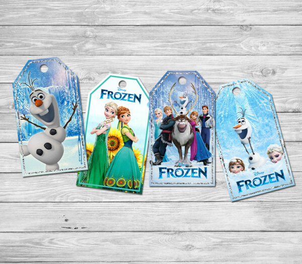 FROZEN Tage, FROZEN Gift Tage, Tage for FROZEN Birthday, Party Tage, Frozen Birthday Movie Printables