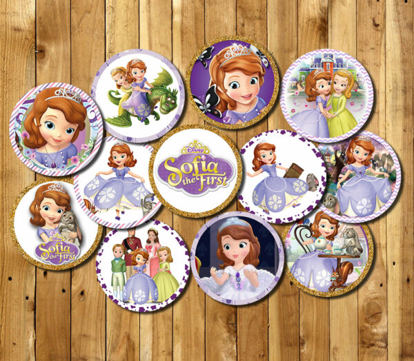 Sofia Cupcake topper, Sofia Gift Cupcake topper, Cupcake topper Sofia Birthday, Party Cupcake topper, Sofia Party Printables