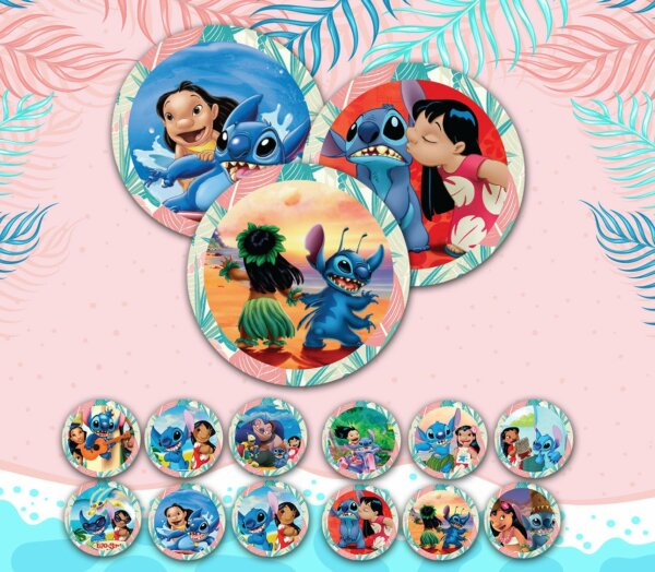 Lilo and Stitch Cupcake Toppers, Lilo and Stitch Party Supplies, Lilo and Stitch Cake Topper, Lilo and Stitch Birthday Party
