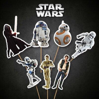 Star Wars party package, Star Wars birthday, Star Wars banner, Star Wars banner, Printable Star Wars banner, Food, Bag, Tag, Cupcake