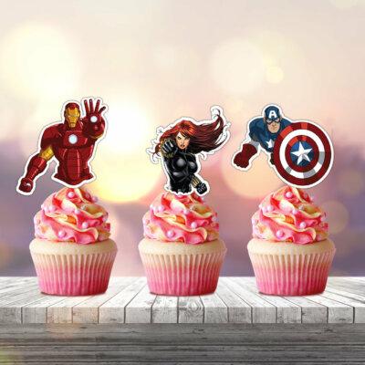 Superhero party package, Superhero birthday, Superhero banner, Superhero banner, Printable Superhero banner, Food, Bag, Tag, Cupcake