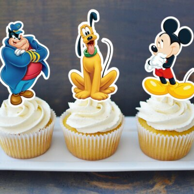Mickey Mouse Clubhouse Printable Cupcake Topper, Mickey Mouse Clubhouse Cake Topper, Mickey Mouse Birthday Party