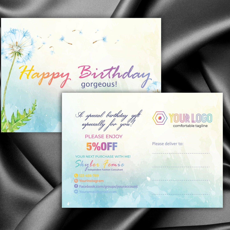 LLR kit, Custom Birthday Card, Dandelion, LLR Marketing kit, Branding, Marketing for Consultant