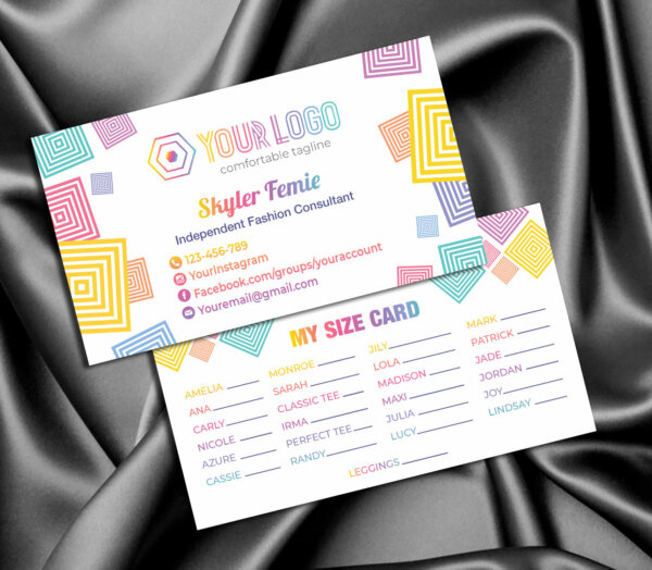 LLR kit, Custom My Size Card, Logo LLR, Color, LLR Marketing kit, Branding, Marketing for Consultant