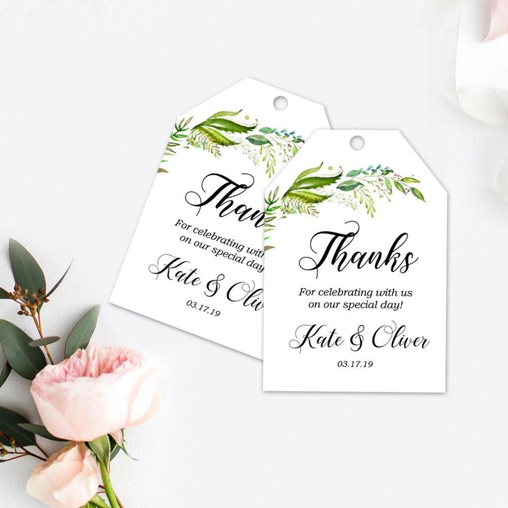 Wedding suite, Custom gift tag wedding, Greenery, Watercolor Greenery, Cheap Wedding Invitation