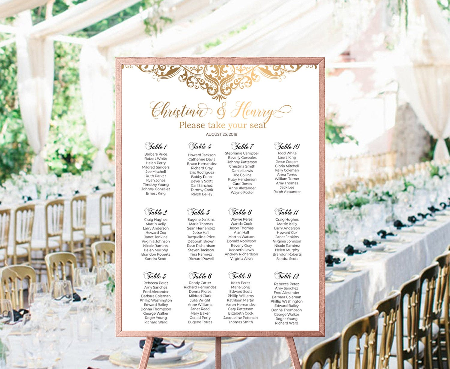 Wedding Suite Custom Seating Charts Table Number Gold Wedding Floral Wedding Frame Gold Wedding Cheap Wedding Invitation Acv Store