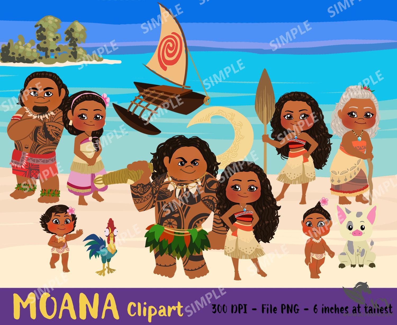 Moana Digital, Moana ClipArt, Moana Art, moana princess Clipart, cartoon, disney, Instant download    PEMO_01