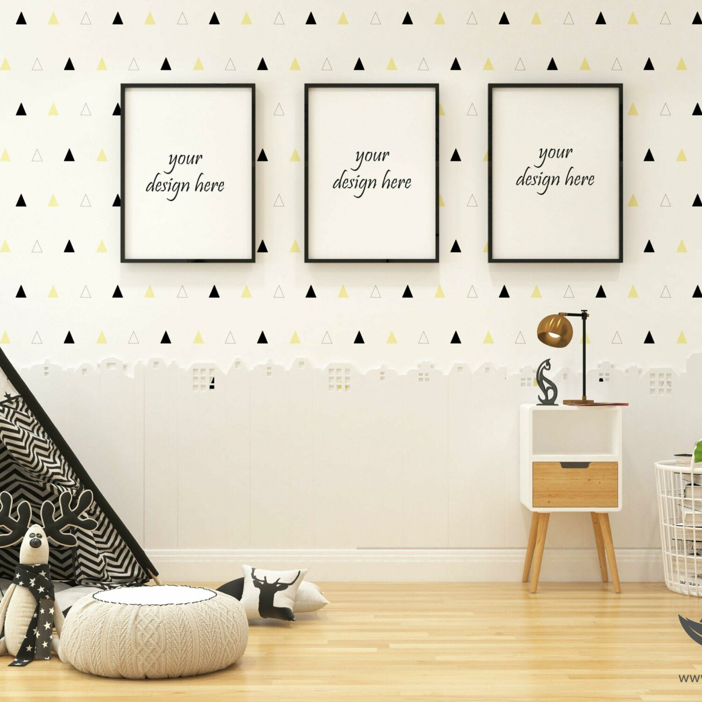 Kids Room Mockup Set PNG, Photoshop Kids Room Mockup, Custom Kids Room Set, Blank wall Kids Room, White wall mockup, Interior mockup || MPUCM_41_1_6