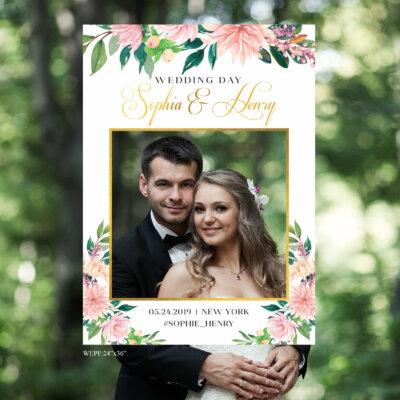 Wedding Photo Prop, Wedding photo booth frame, Wedding Bridal Shower Birthday Selfie, Modern Wedding photo, Bridal shower Photo Prop